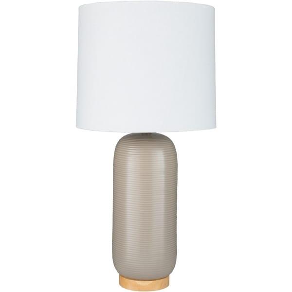 Hamiti 25.5 in. Gray Modern Table Lamp