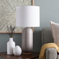 Hamiti 25.5 in. Gray Modern Table Lamp