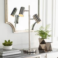 Gillis 27.5 in. Nickel Modern Table Lamp