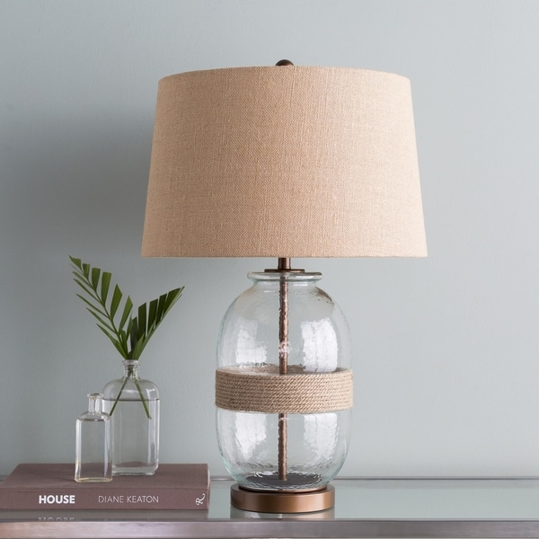 Thane 27.25 in. Glass Transitional Table Lamp