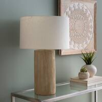 Goffe 26 in. Natural Transitional Table Lamp