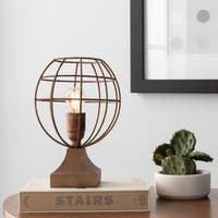 Asami 10.625 in. Copper Modern Table Lamp