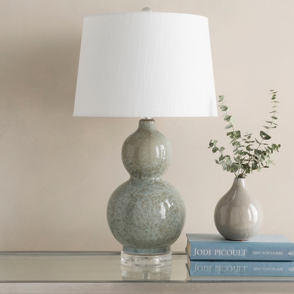Amani 24.5 in. Aqua Updated Traditional Table Lamp