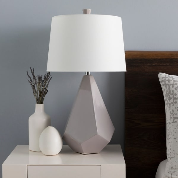 Levy 27 in. Gray Modern Table Lamp