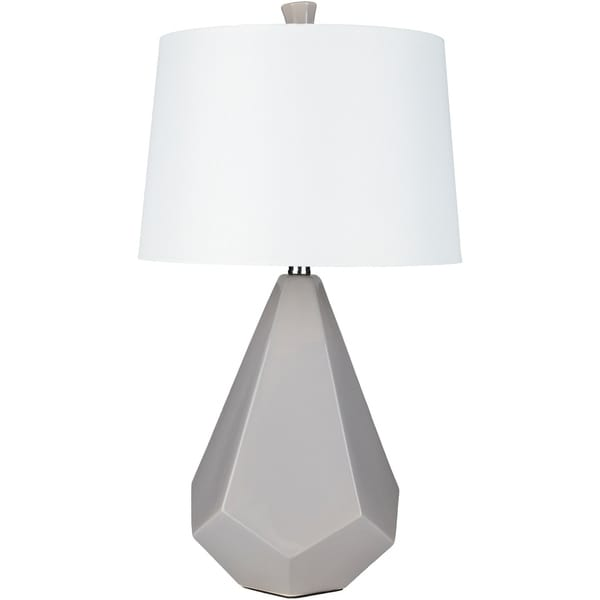 Levy 27 in. Grey Modern Table Lamp