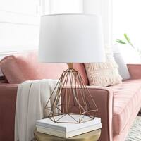Dalla 24 in. Brass Modern Table Lamp