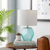 Otsu 17 in. Aqua Modern Table Lamp
