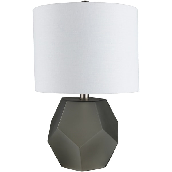 Otsu 17 in. Charcoal Modern Table Lamp