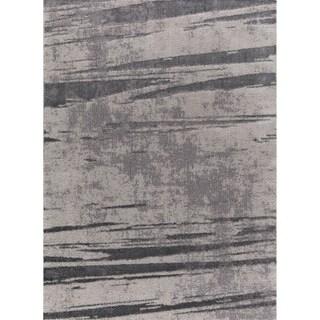 Sela Tlight Collection Gray Area Rug - 7'10 x 10'2