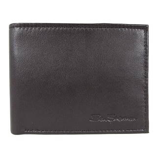Ben Sherman Mens Kensington Collection 16005C Leather Passcase Wallet, Black