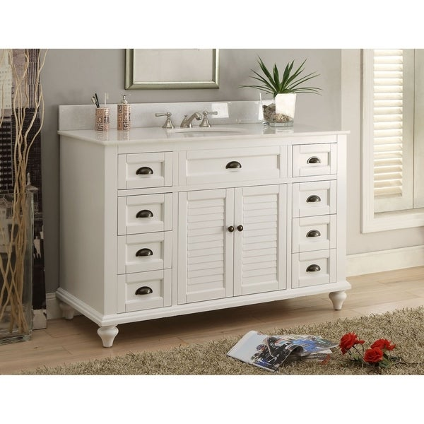 49 Benton Collection Glennville White Bathroom Vanity W Matching Bs