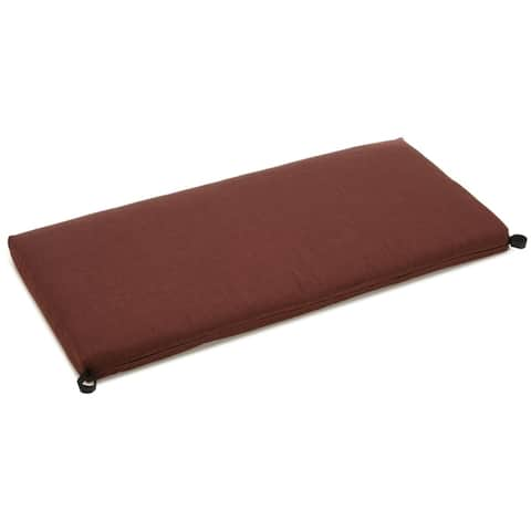 Blazing Needles 40-inch Solid Color All-weather Outdoor Bench Cushion