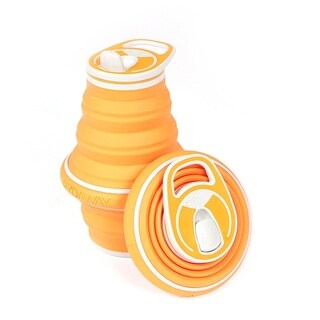 HYDAWAY 21-ounce Collapsible Water Bottle Tangerine