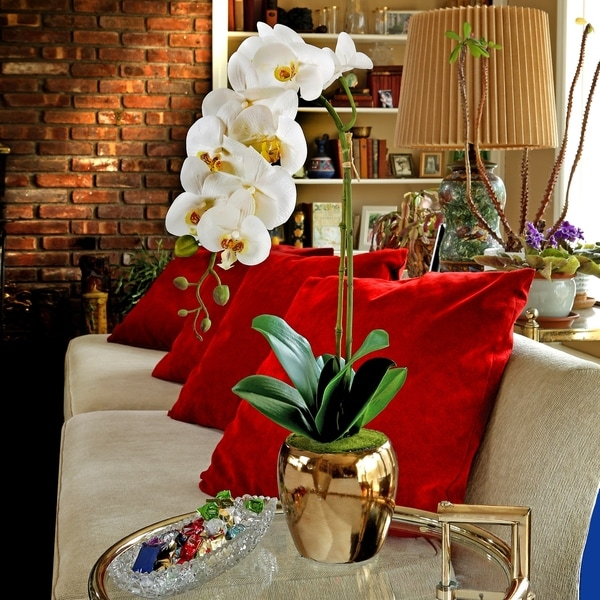 25 Inch Orchid in Gold vase