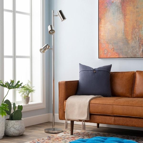 Askew 65 in. Chrome Modern Floor Lamp