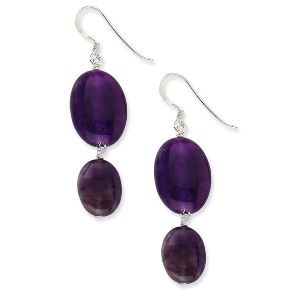 set jade and pin green purple gemstones earrings jewelry