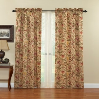 Waverly Imperial Dress Antique Window Drapery Pair - 100x84