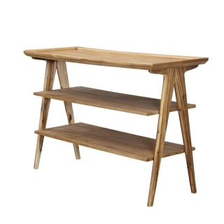 Rectangular 3-tier Natural Sofa Table