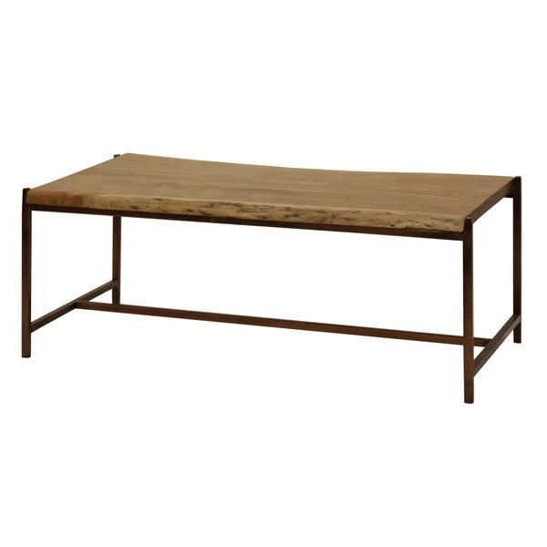 Best Finish For Live Edge Coffee Table: Shop Solid Acacia Wood Live Edge Natural Stain Coffee