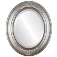 Winchester Framed Oval Mirror in Silver Shade - Silver/Brown
