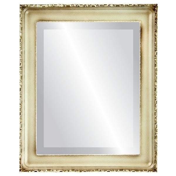 Kensington Framed Rectangle Mirror in Taupe (25x31 - Medium (15-32 high))