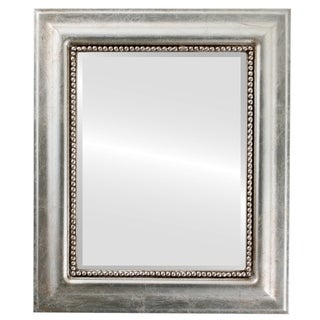 Heritage Framed Rectangle Mirror in Silver Leaf with Brown Antique - Silver/Brown