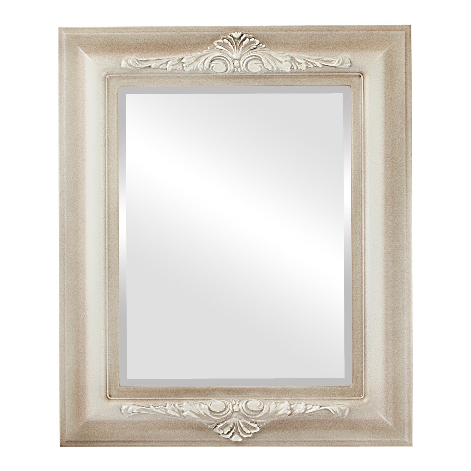 Winchester Framed Rectangle Mirror in Taupe (25x29 - Medium (15-32 high))
