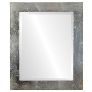 Soho Framed Rectangle Mirror in Silver Leaf with Brown Antique - Silver/Brown