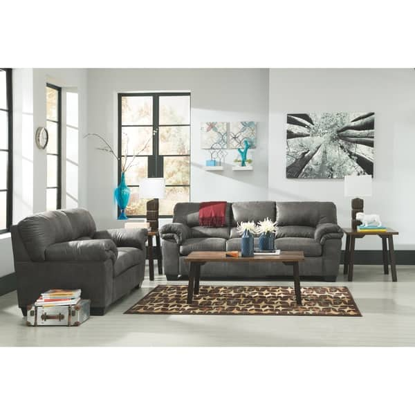Groovy Shop Bladen Contemporary Slate Gray Loveseat On Sale Gmtry Best Dining Table And Chair Ideas Images Gmtryco