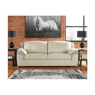 Terrific Signature Design By Ashley Islebrook Contemporary Vanilla White Sofa Uwap Interior Chair Design Uwaporg