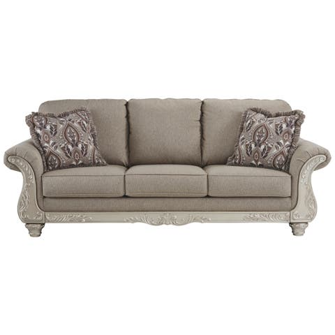 Signature Design by Ashley, Gailian Traditional Smoke Gray Sofa