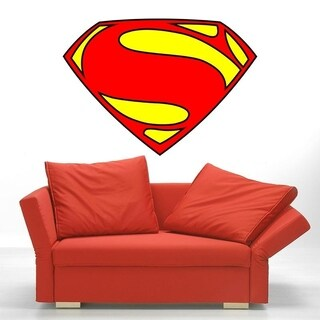 "Superman Logo Full Color Wall Decal Sticker AN-388 FRST Size46""x56"""