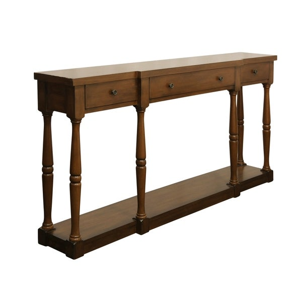 Springfield 3 Drawer Cherry Wood Console Table On Free Shipping Today 20730870