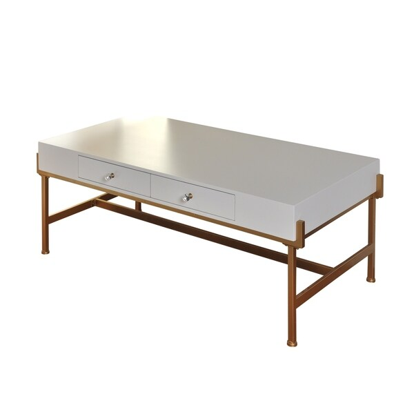 Shop 2-drawer White Lacquer Coffee Table