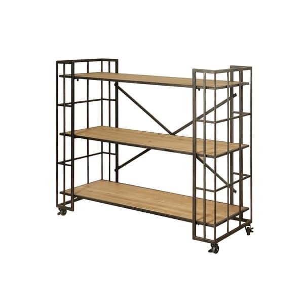 Shop Industrial Styled 3-shelf Dark Bronze Bookcase