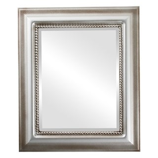 Heritage Framed Rectangle Mirror in Silver Shade - Silver/Brown