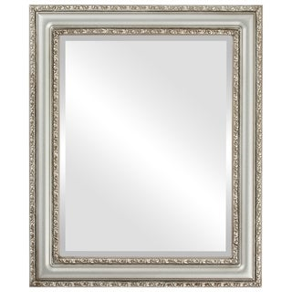 Dorset Framed Round Mirror in Silver Shade - Silver/Brown