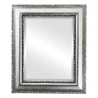 Somerset Framed Rectangle Mirror in Silver Leaf with Black Antique - Silver/Black