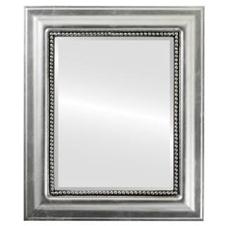 Heritage Framed Rectangle Mirror in Silver Leaf with Black Antique - Silver/Black