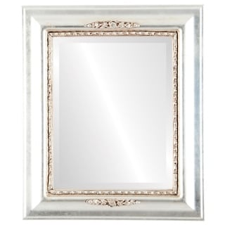 Boston Framed Rectangle Mirror in Silver Leaf with Brown Antique - Silver/Brown