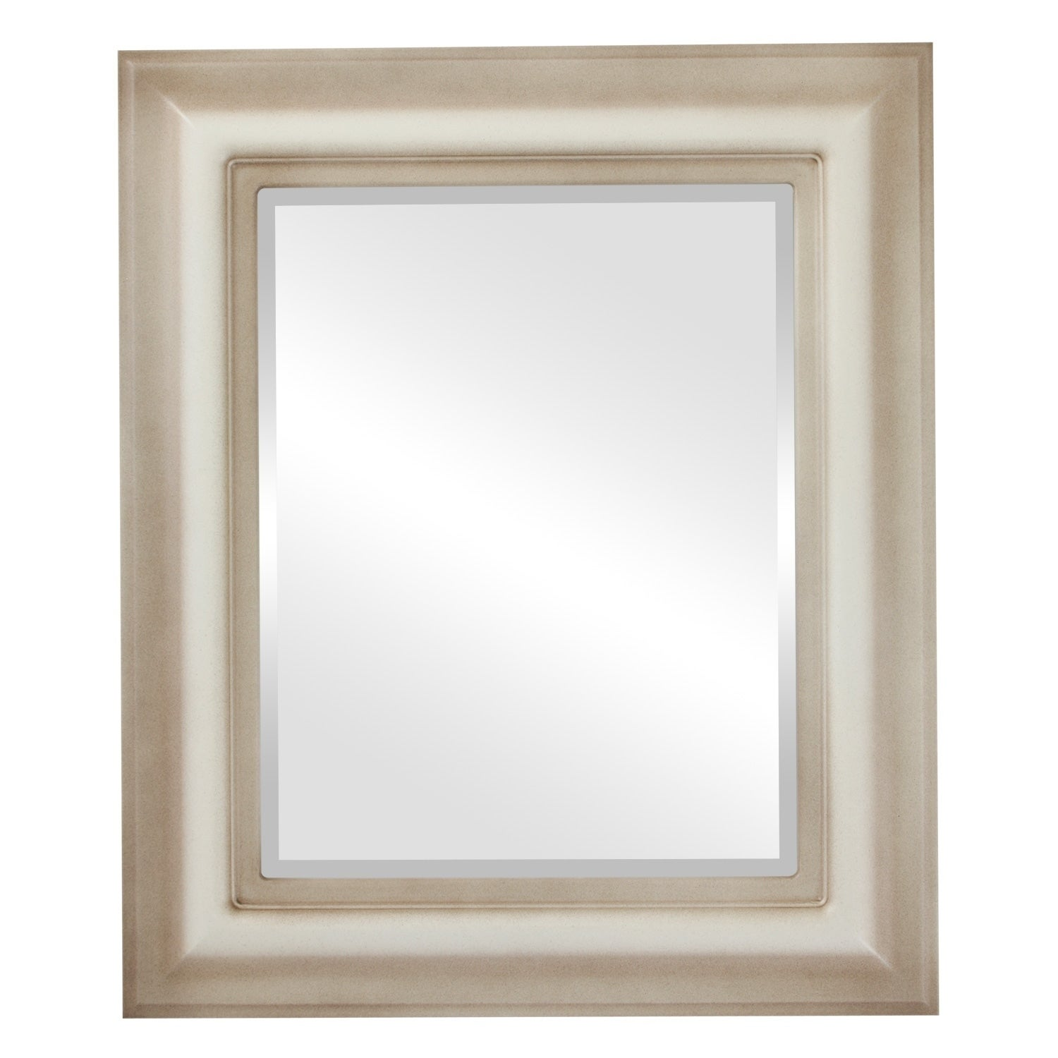 Lancaster Framed Rectangle Mirror in Taupe (17x21 - Medium (15-32 high))