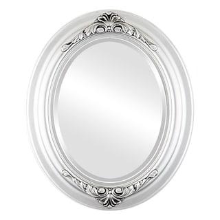 Winchester Framed Oval Mirror in Silver Spray