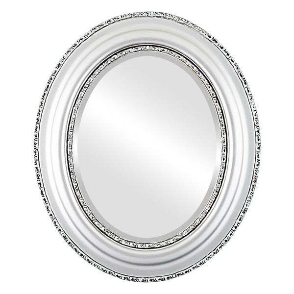 Shop Somerset Framed Oval Mirror In Silver Spray