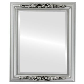 Florence Framed Rectangle Mirror in Silver Spray
