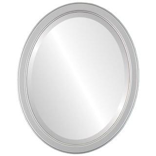 Toronto Framed Oval Mirror in Silver Spray