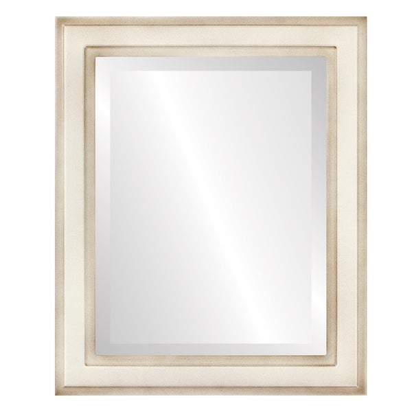 Wright Framed Rectangle Mirror in Taupe