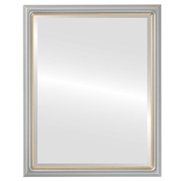 Shop Hamilton Framed Rectangle Mirror In Silver Spray With