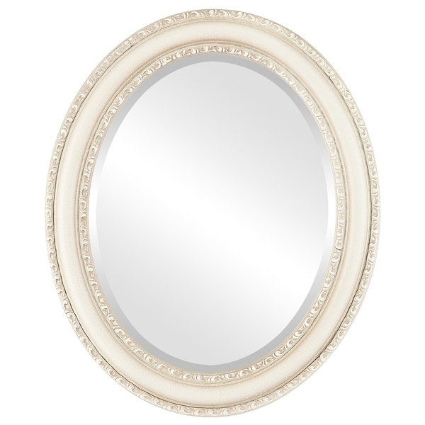 Dorset Framed Oval Mirror in Taupe