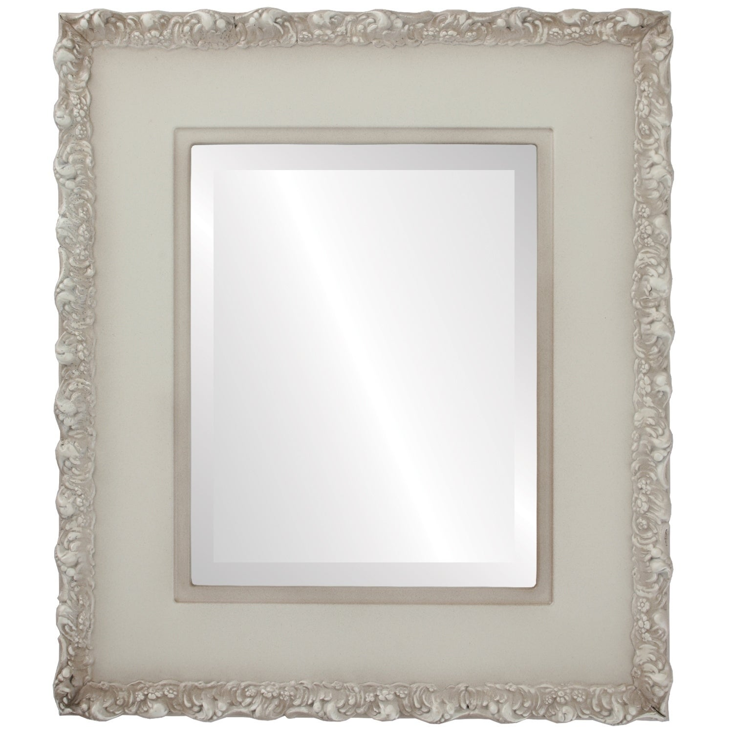Williamsburg Framed Rectangle Mirror in Taupe (31x37 - Medium (15-32 high))