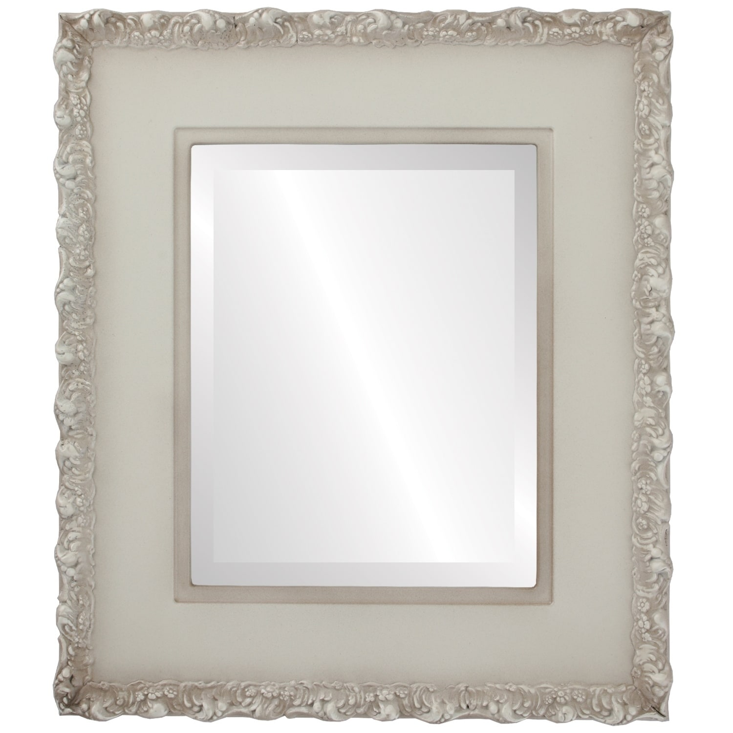 Williamsburg Framed Rectangle Mirror in Taupe (31x43 - Large (over 32 high))